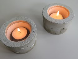 Teelichthalter aus Beton klein