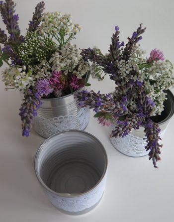 Blumenvase Blechdose mittel