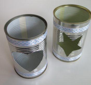 Teelichthalter Blechdose mittel