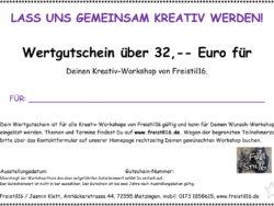 Gutschein für unsere Kreativ-Workshops