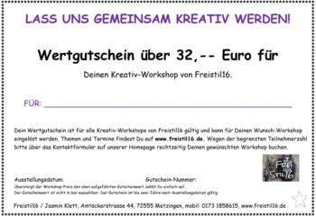 Gutschein Workshops