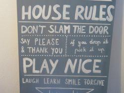 Wandbild HOUSE RULES