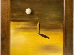 Beduine bei Mondschein