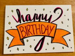 Papier Karte Happy Birthday